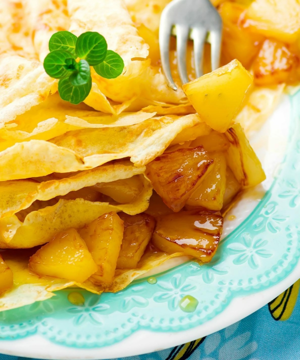 Chandeleur morceaux d'ananas