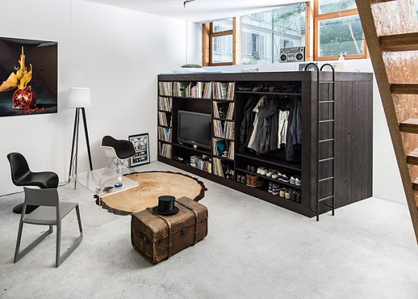 aménagement studio 30m2 boîte à encombrement réduit