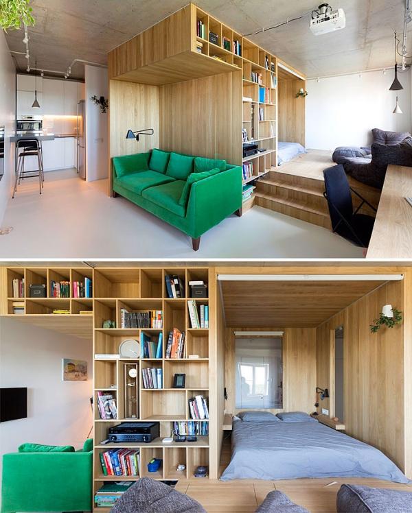 aménagement studio 30m2 confortable pour plus d'une personne