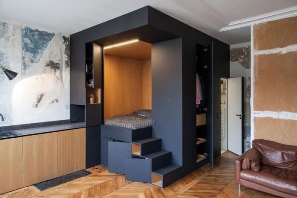 aménagement studio 30m2 fonctionnel et accueillant