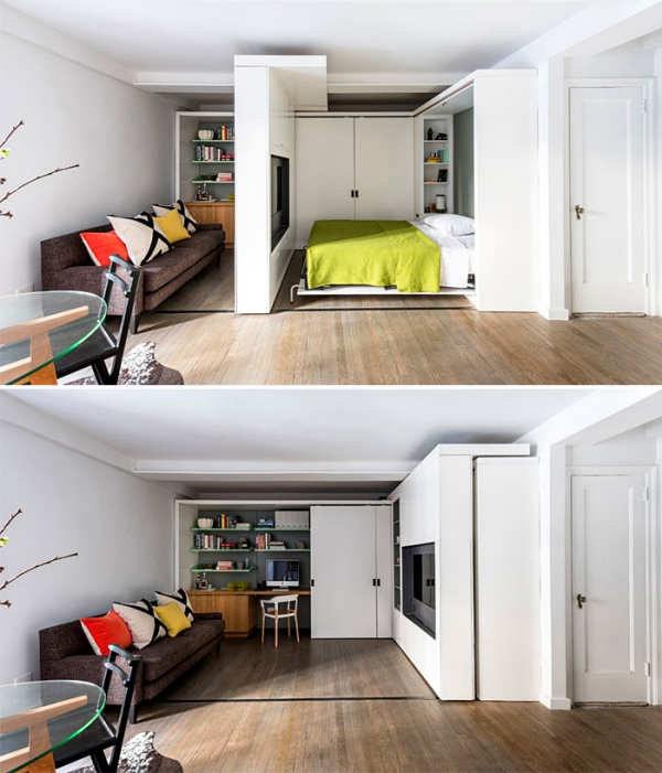 am nagement studio 30m2 avec beaucoup d imagination et peu. Black Bedroom Furniture Sets. Home Design Ideas