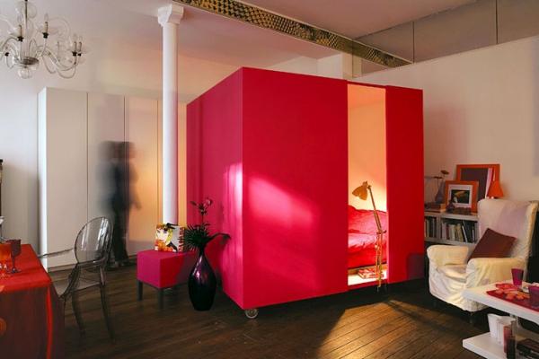 aménagement studio 30m2 plus de confidentialité