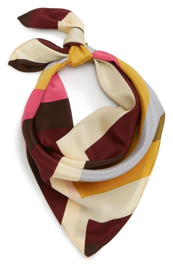 cadeau grand-mère écharpe en soie