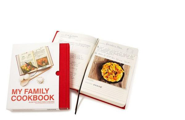 cadeau grand-mère livre de recettes