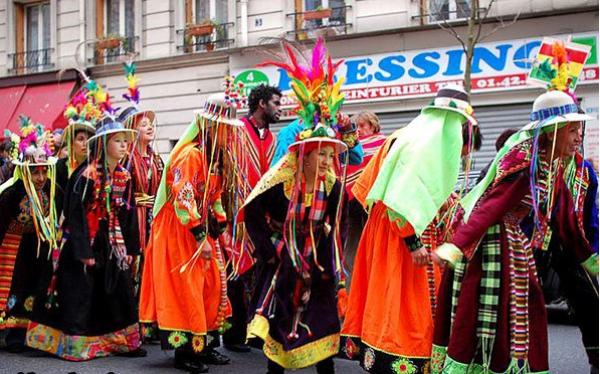 carnaval de mardi gras groupe mexicain