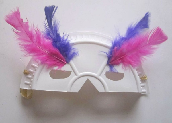carnaval de mardi gras plumes collées