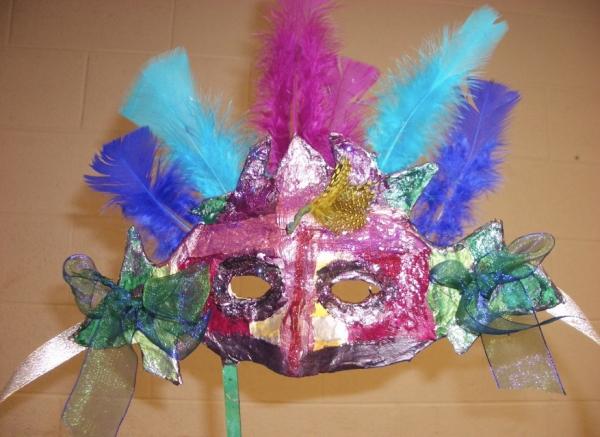 carnaval de mardi gras plumes et rubans