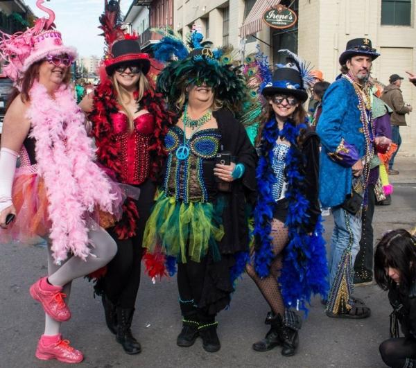 carnaval de mardi gras quatre dames