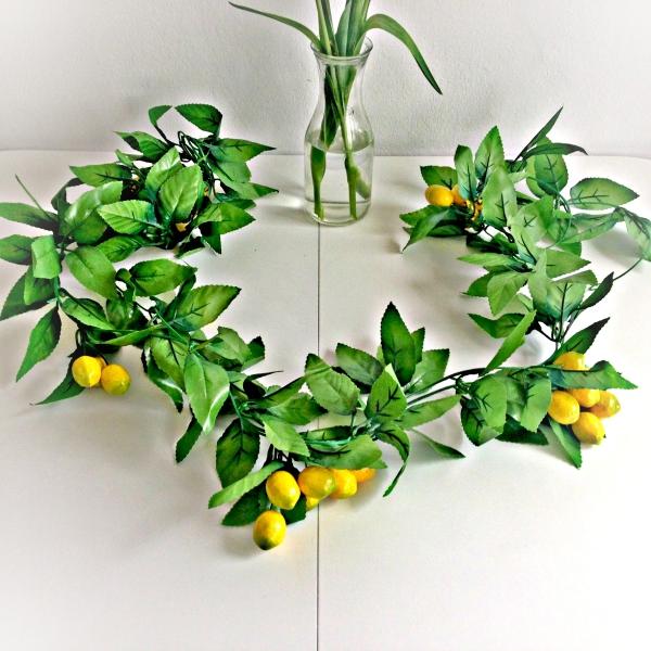 citron santé une couronne d'agrumes