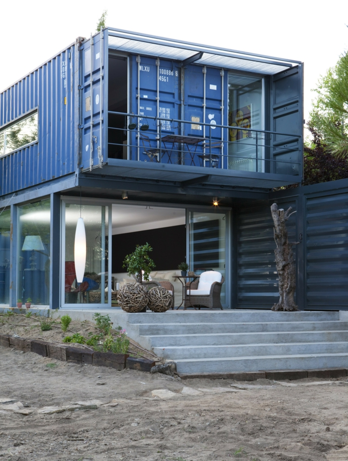 container habitable 2 étages maison