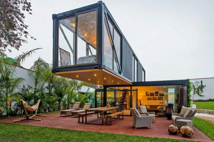 container habitable deux étages