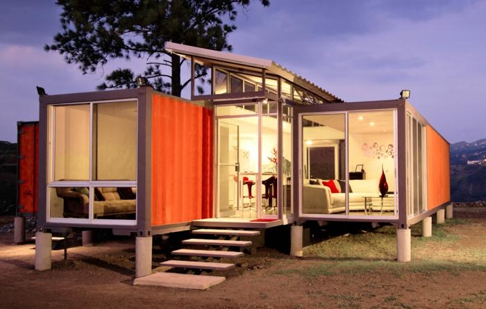container habitable logement confortable