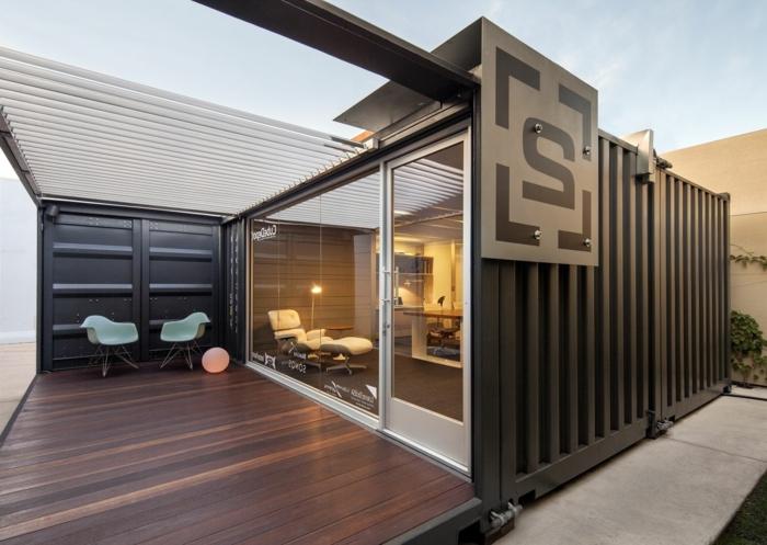 container habitable maison stylée