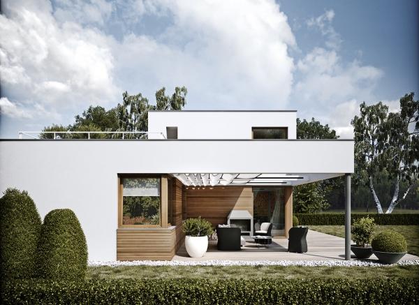 couleur façade maison tendance coin séjour à l'extérieur