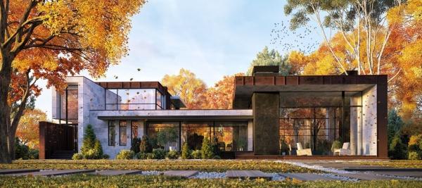 couleur façade maison tendance nature et technologie