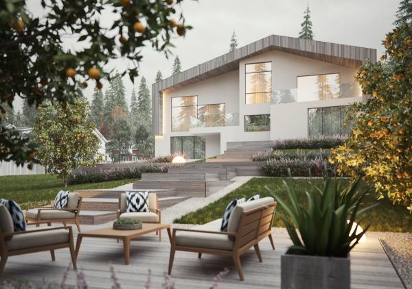 couleur façade maison tendance pierre grise