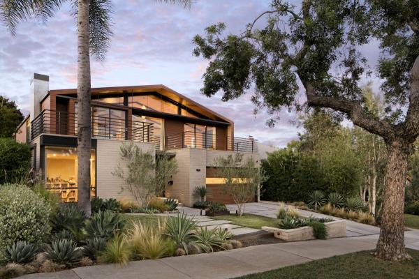 couleur façade maison tendance plantes succulentes