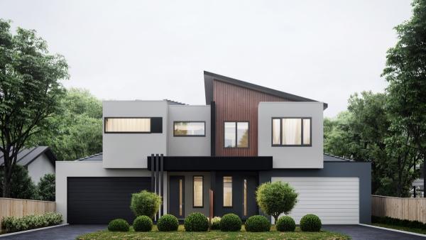 couleur façade maison tendance tons de bois vernis
