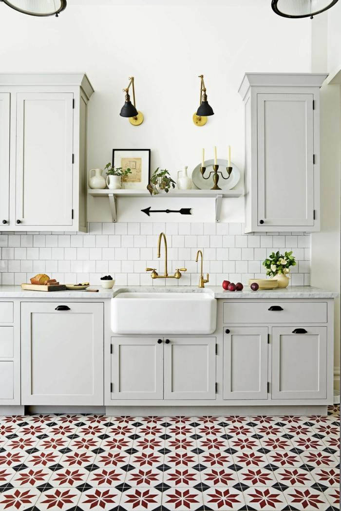 cuisine tendance 2019 carreaux à motifs sol