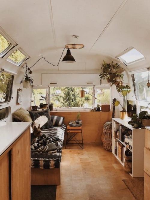 déco caravane intérieur cosy