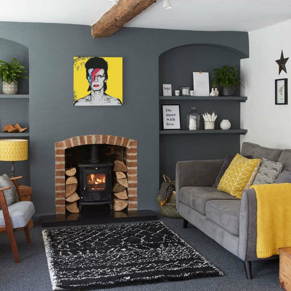 Salon Gris Fonce Et Blanc - onestopcolorado.com -