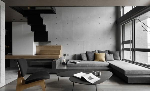 déco salon gris mobilier design épuré style scandinave
