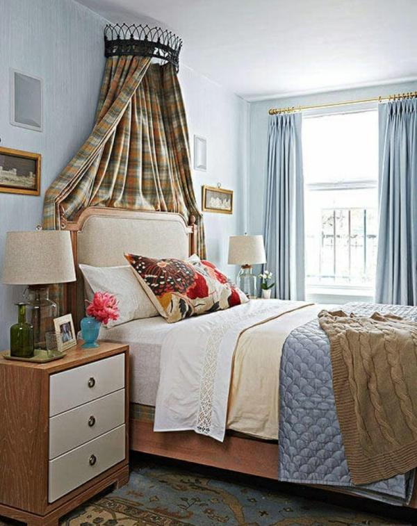 déco tête de lit baldaquin rideaux
