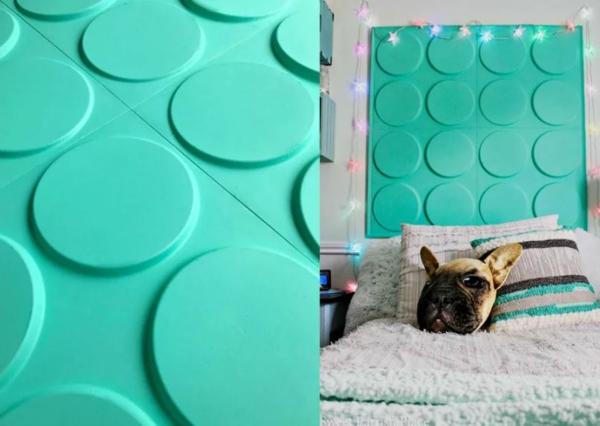 déco tête de lit carreaux muraux 3d à peindre
