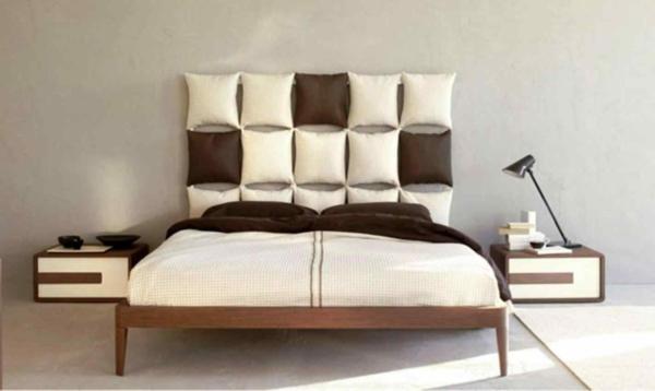 déco tête de lit coussins effet mosaïque