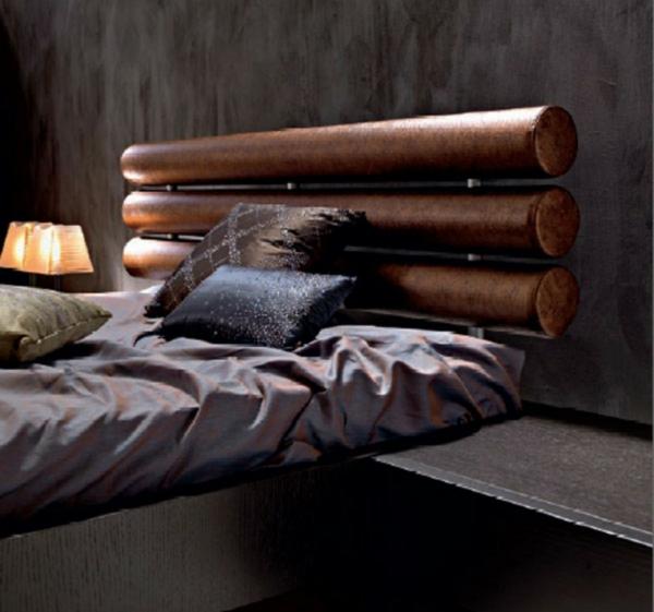 déco tête de lit imitation bois