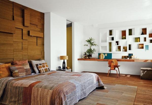 déco tête de lit lambris mural bois