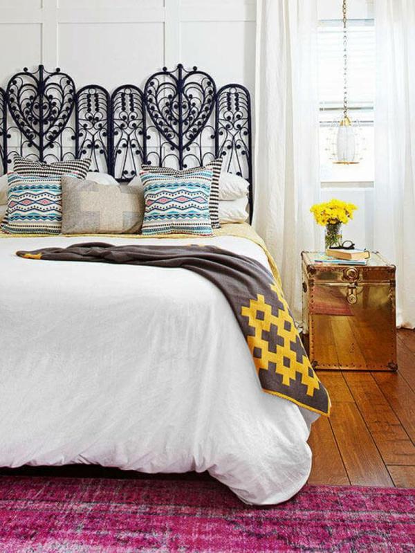 déco tête de lit métal style vintage