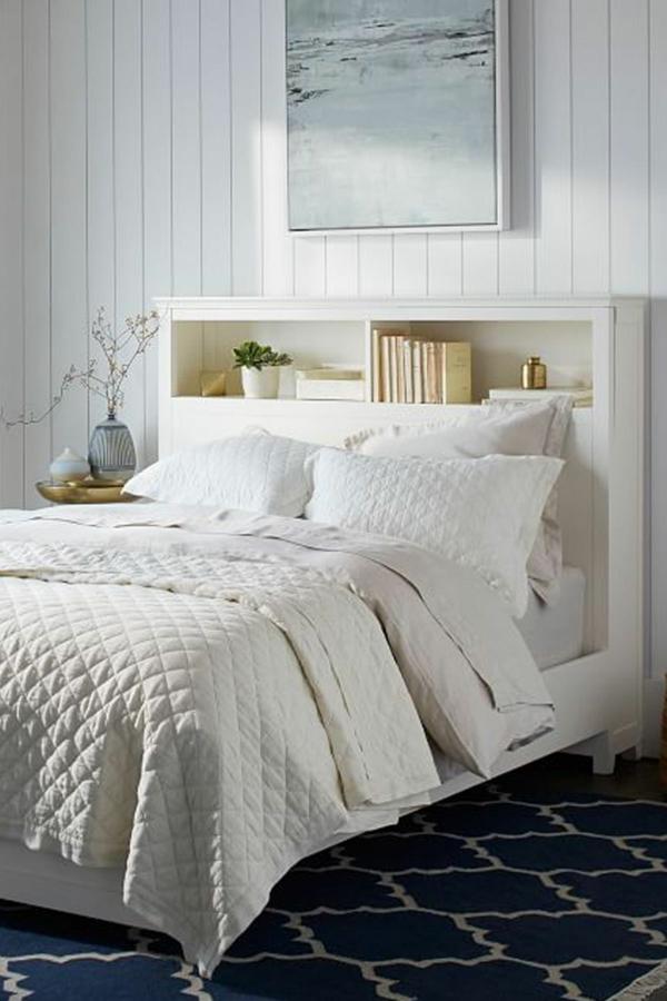 déco tête de lit meuble étagère