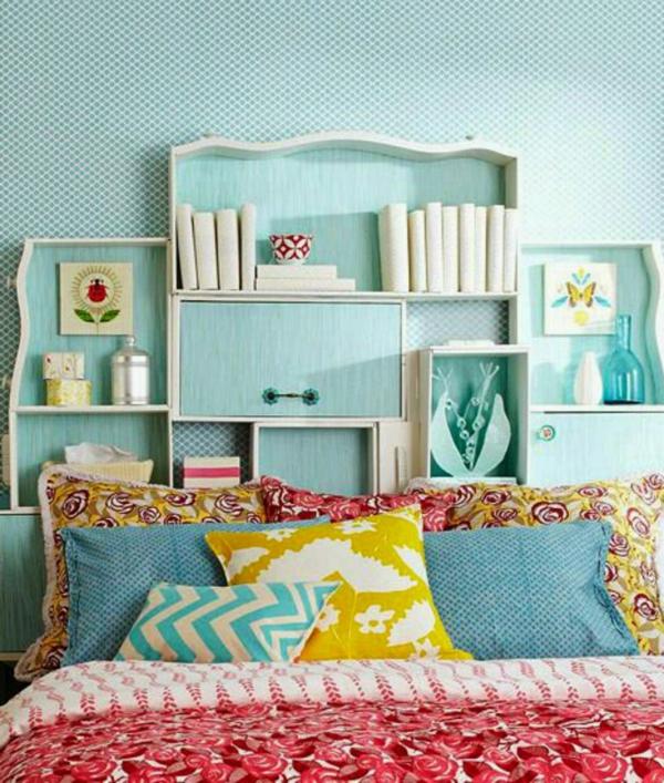déco tête de lit meuble bibliothèque
