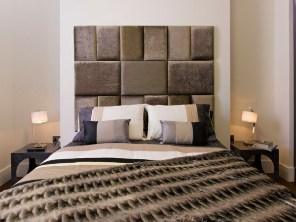 déco tête de lit originale rectangles rembourrés