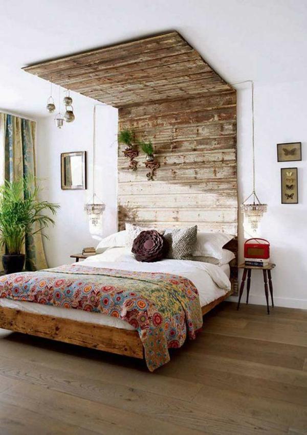 déco tête de lit palettes de bois