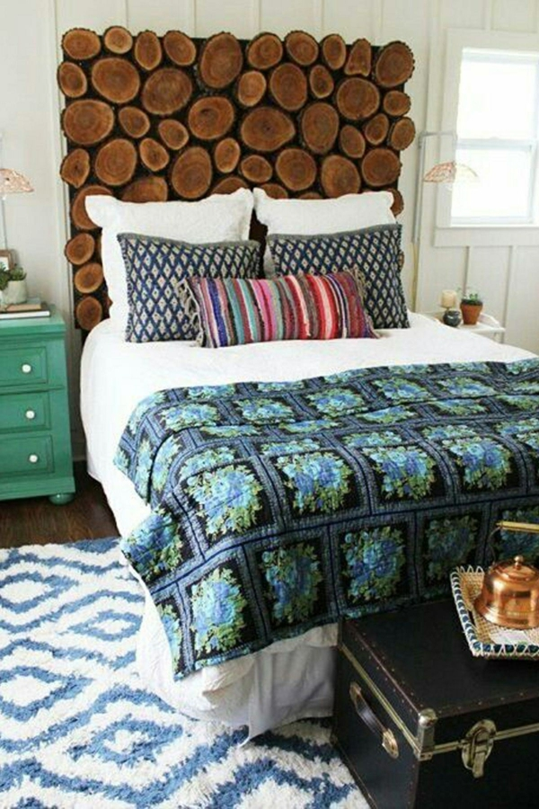 déco tête de lit panneau mural imitation bois