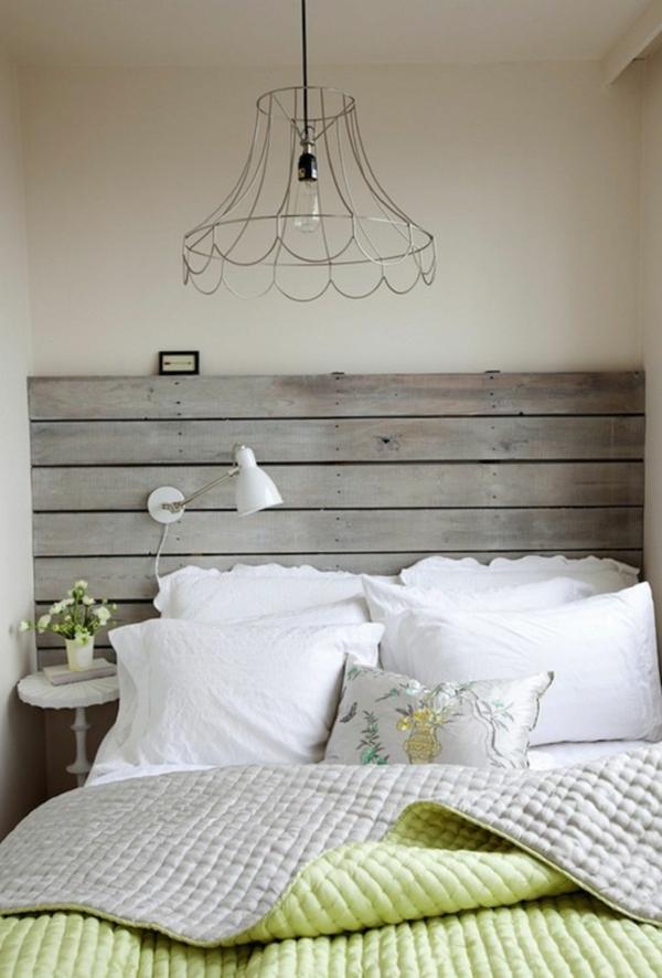 déco tête de lit planches bois