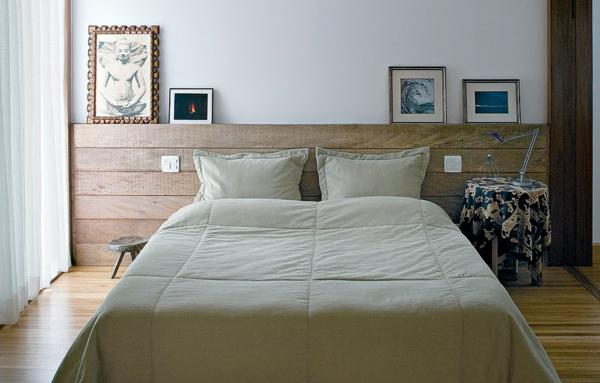 déco tête de lit planches en bois