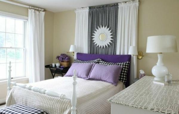 déco tête de lit rideaux