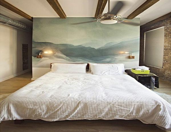 déco tête de lit tableau de peinture de grande taille