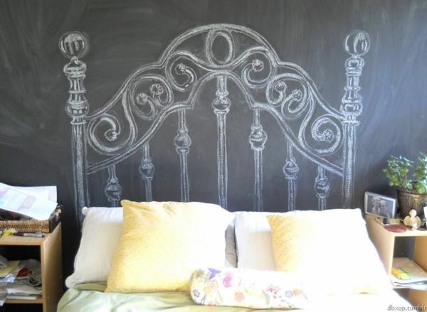 déco tête de lit tableau mural ardoise