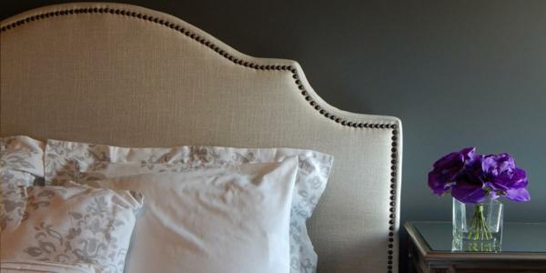 déco tête de lit tapisserie punaises