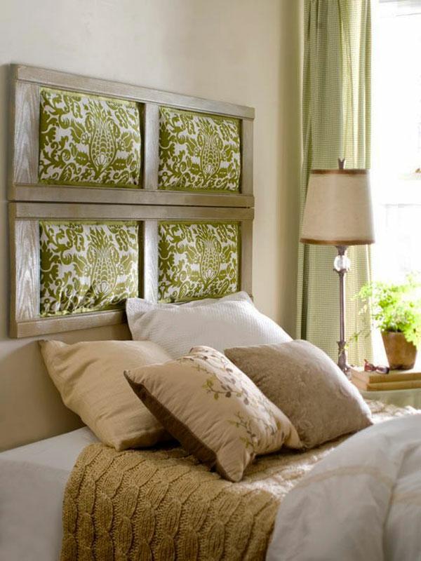 déco tête de lit textile cadre de bois