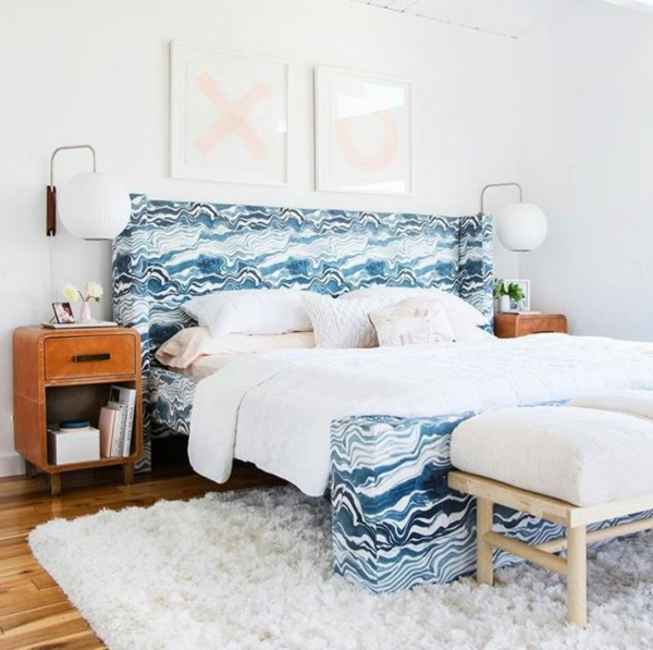 déco tête de lit textile coloré