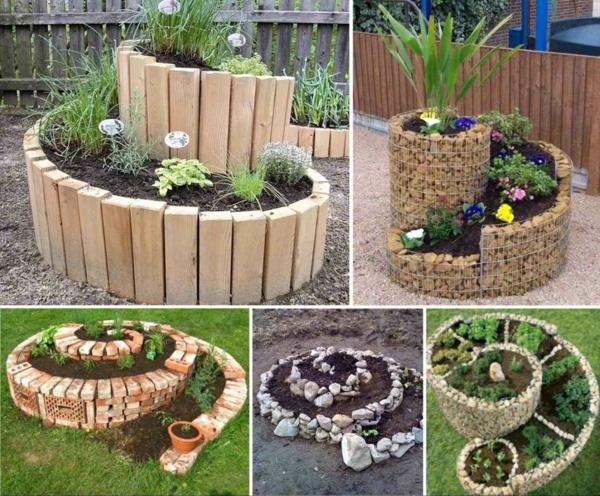décorer son jardin avec des objets de récupération grandes jardinières