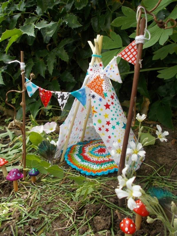 décorer son jardin avec des objets de récupération textile crochet