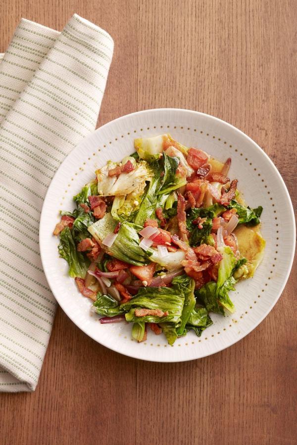 date mardi gras scarole braisée au bacon