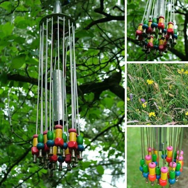 diy carillon éolien éléments bois et métal