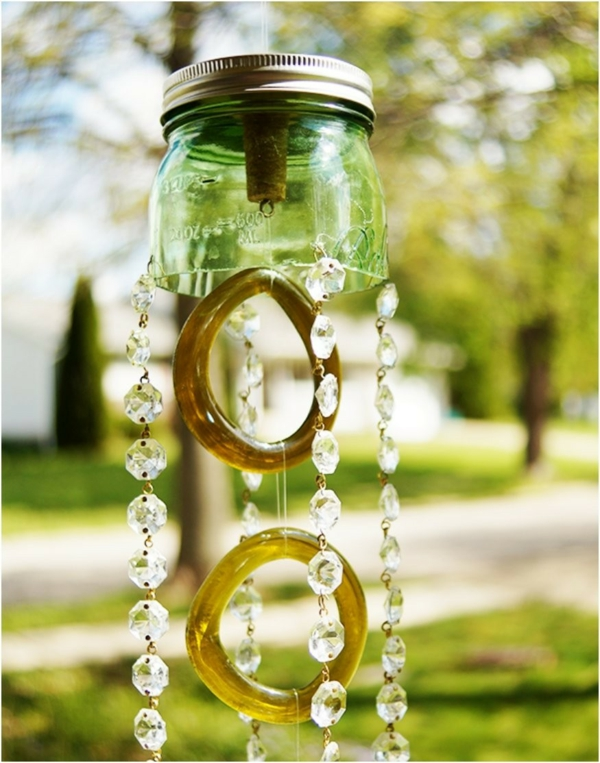 diy carillon éolien bocaux mason jar perles en verre
